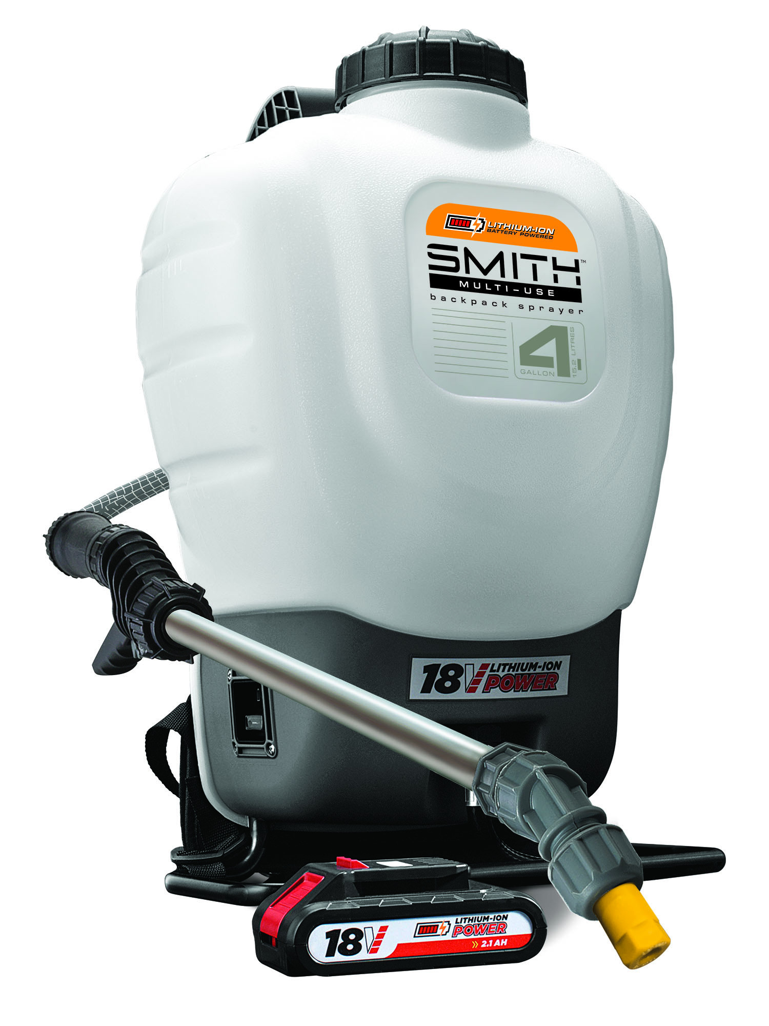 Smith Multi-Use 18V Lithium-ion Powered Disinfecting Backpack Sprayer, Model 190676