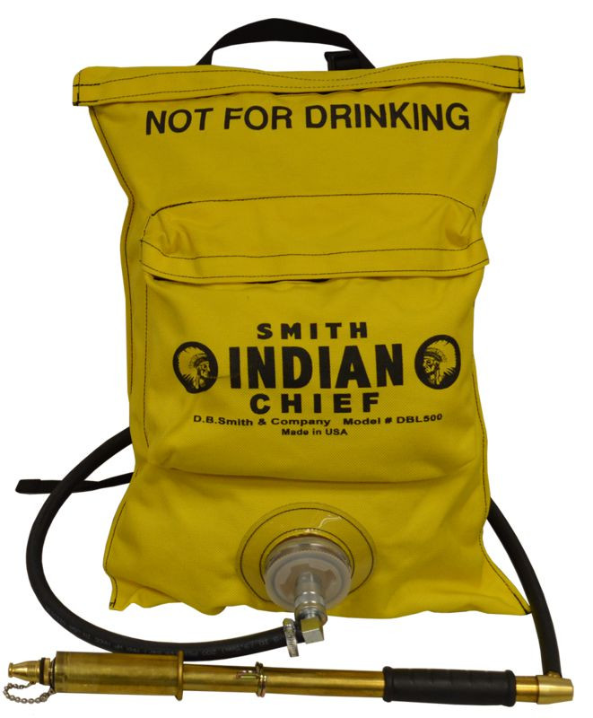 Indian™ Chief DBL500 5-Gallon Collapsible Dual Bag Fire Pump with Fedco Pump