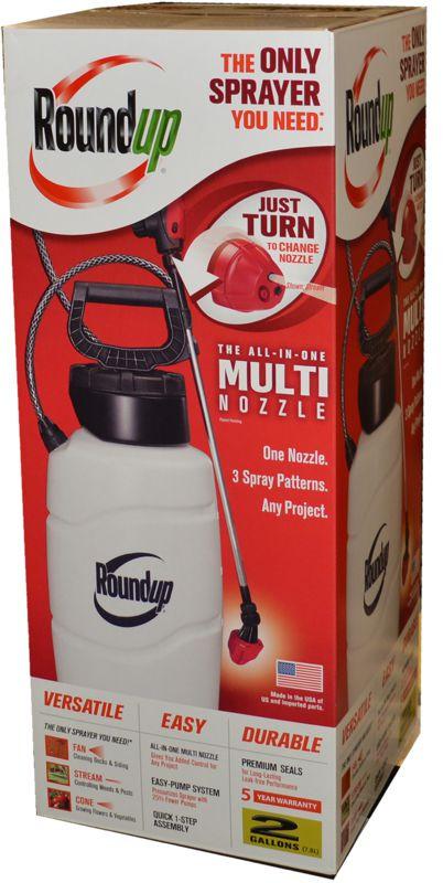 Roundup 2 Gallon All In 1 Multi Nozzle Sprayer