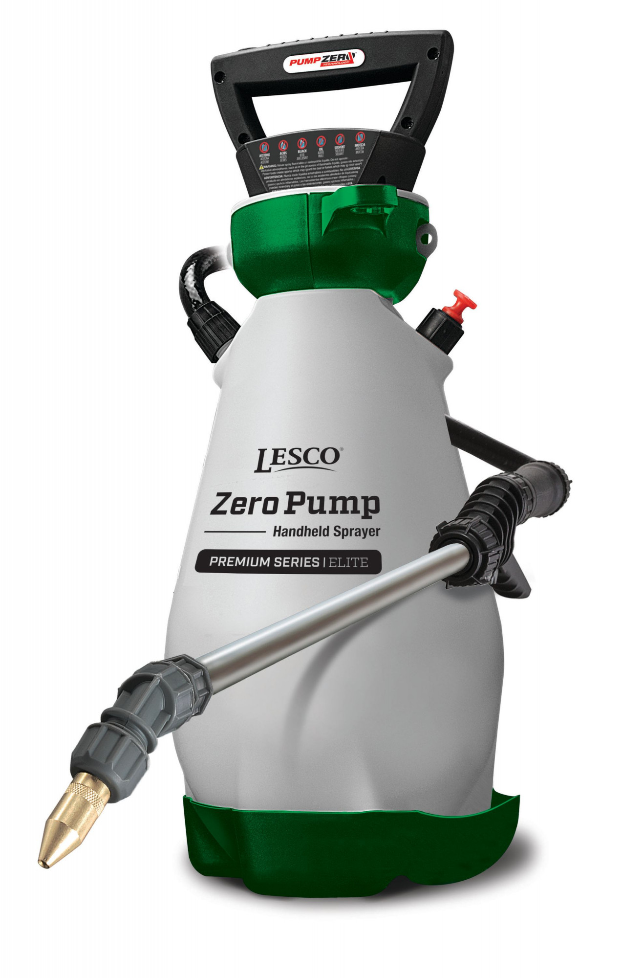 LESCO® Zero Pump,2 Gal, Elite Premium Series,Lith-Ion Battery Powered Sprayer, Model 190594
