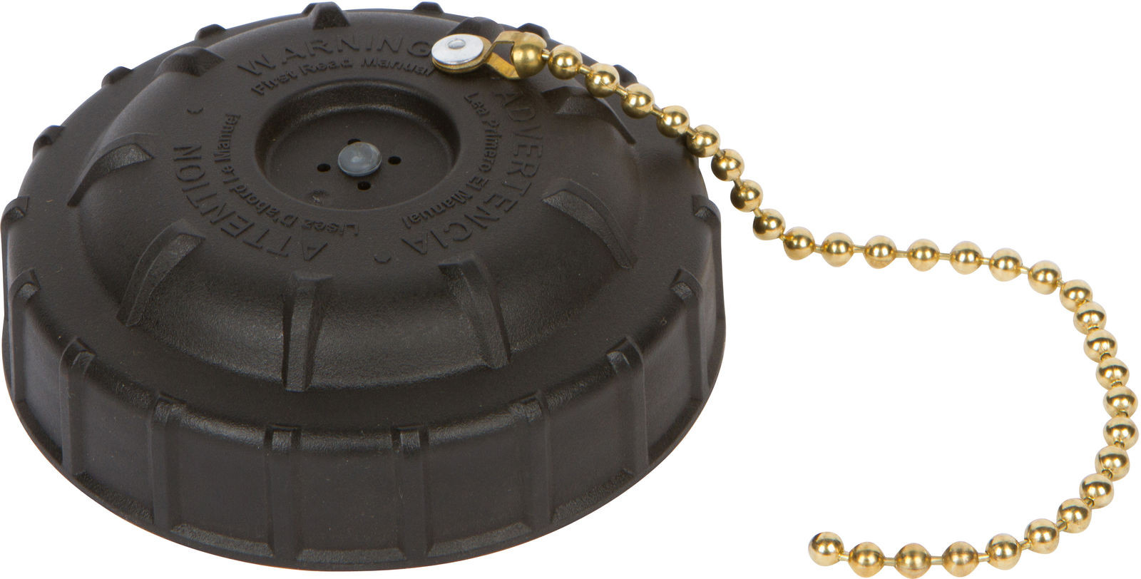 181447 Cap Assy, Black, w/Chain, Poly Fire