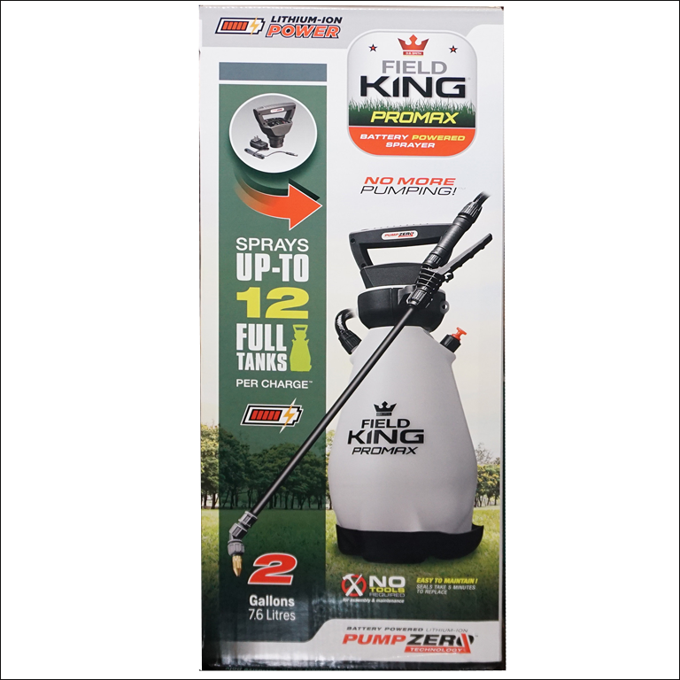 Field King™ ProMax Pump Zero™, 2 Gal, Lithium-Ion Battery Powered Sprayer, Model 190571
