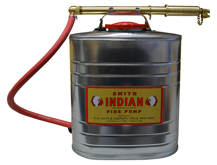 Indian™ 90G 5-Gallon Galvanized Fire Pump with Smith Pump