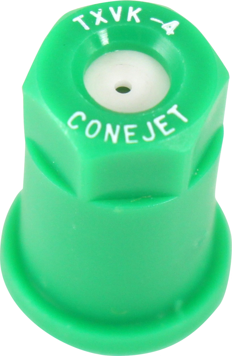 182937 #4 Green Poly Conical Nozzle Tip with Ceramic Insert
