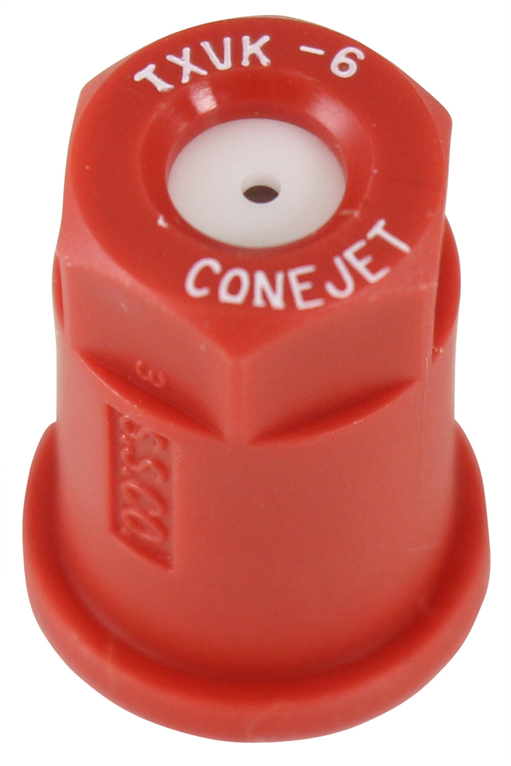 182938 #6 Red Poly Conical Nozzle Tip with Ceramic Insert