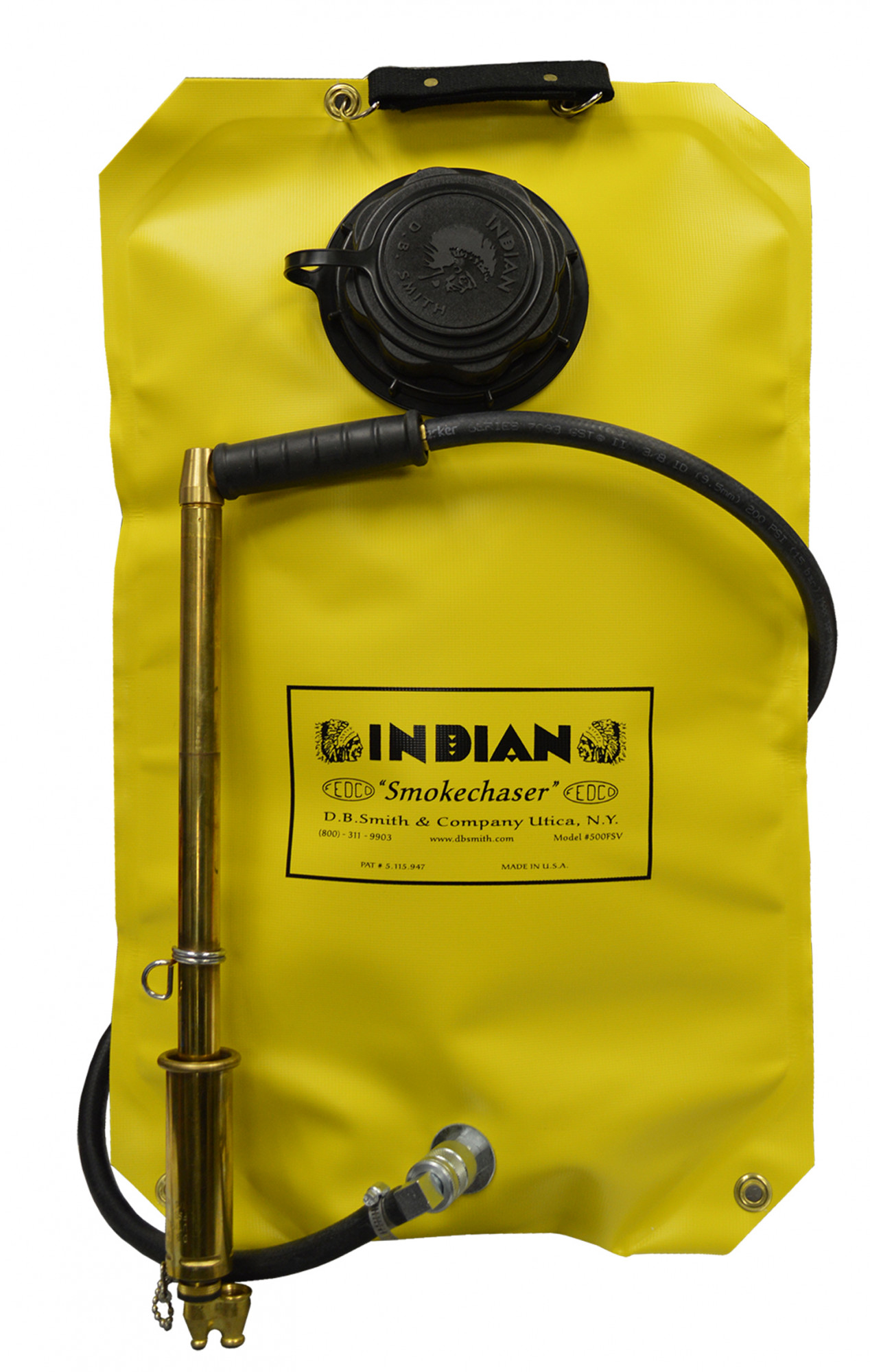 Indian™ FSV500PG 5-Gallon Poly Tank Fire Pump with Fedco Brass Pistol Grip Pump